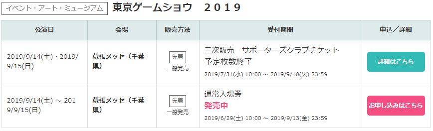 東京ゲームショウチケット情報