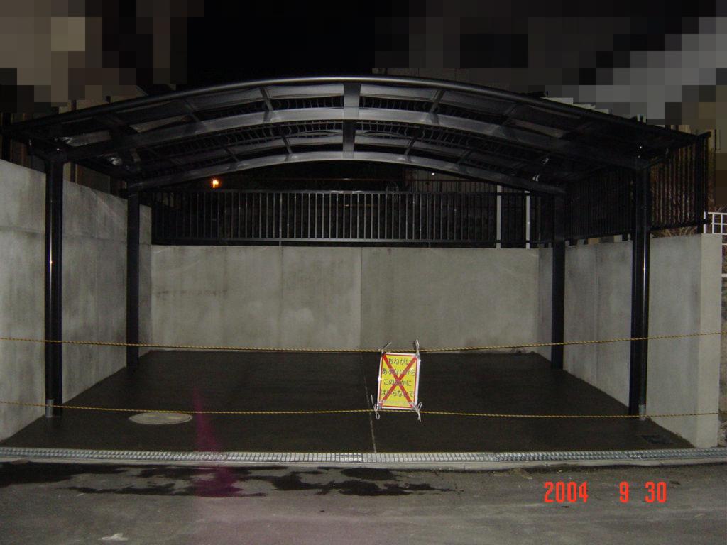 駐車スペース拡張工事