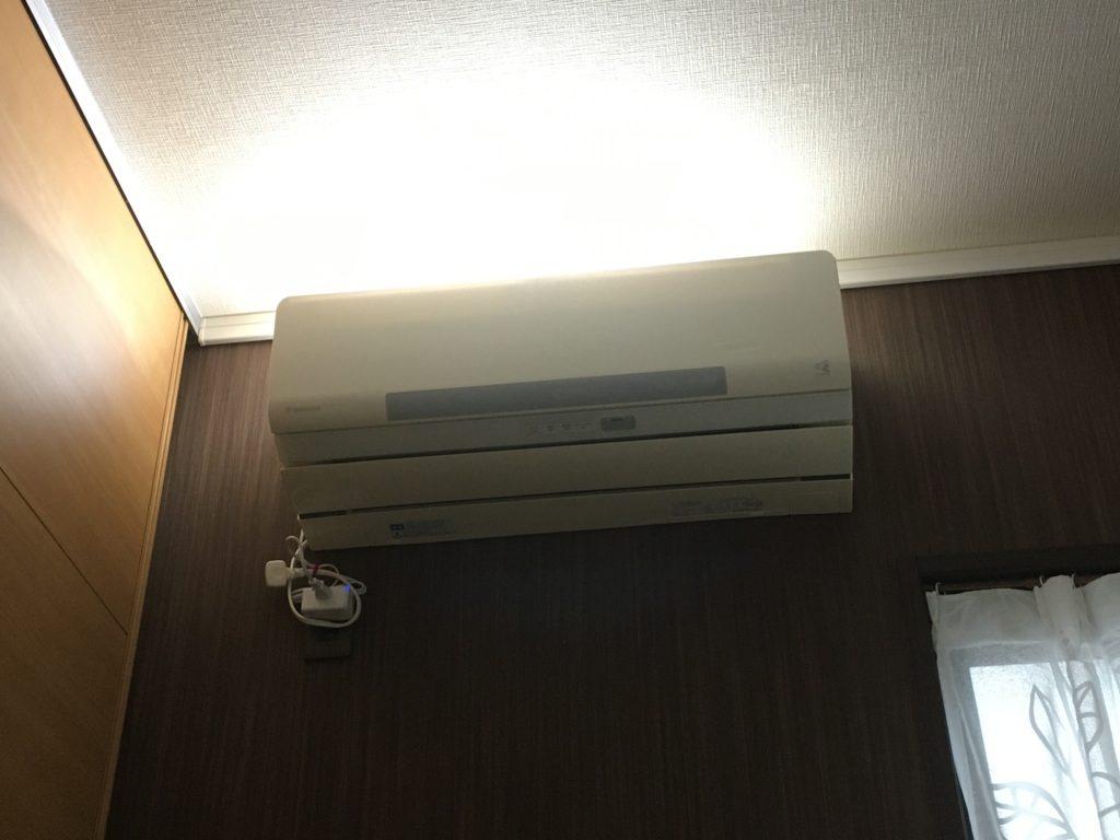 エアコン上部照明