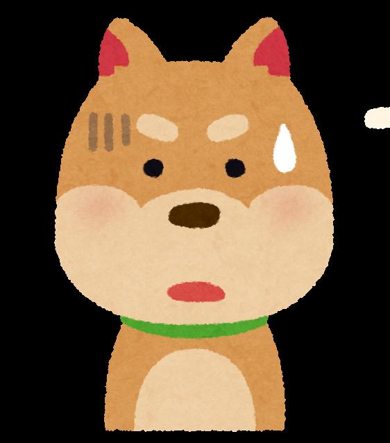 犬おびえる