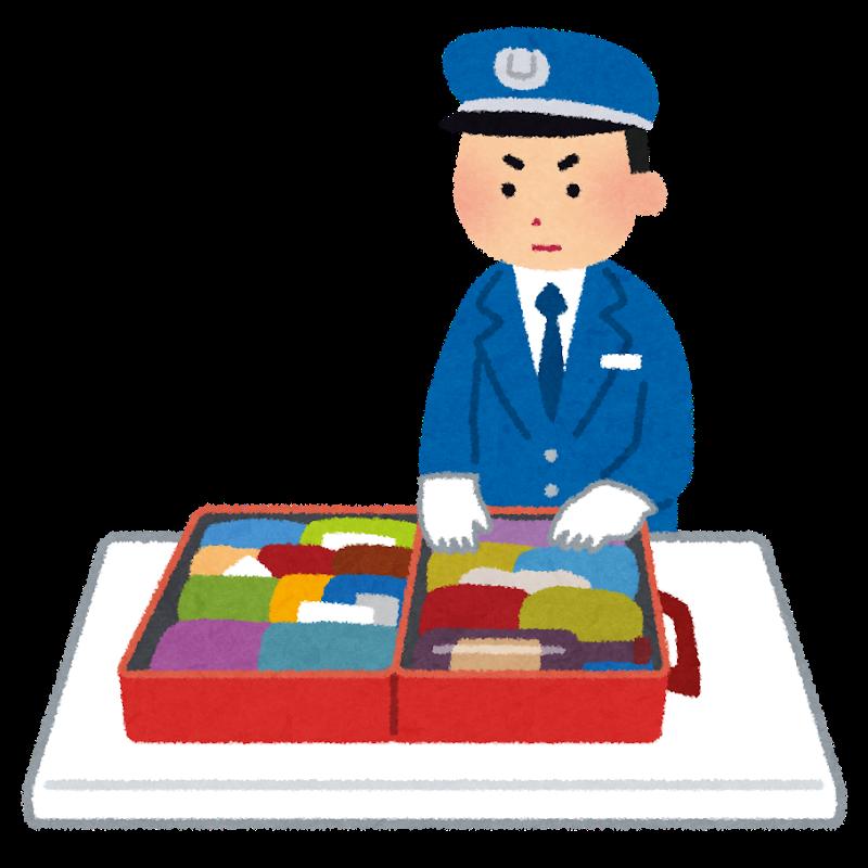 税関荷物検査