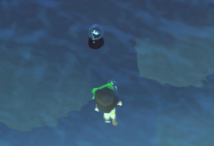 海底に潜る