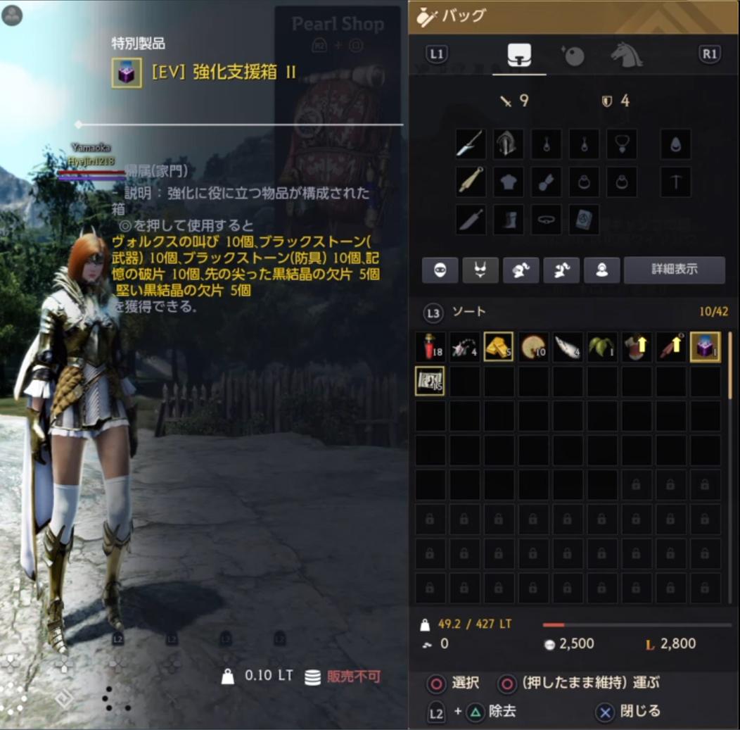 黒い砂漠PS4強化支援箱