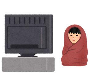 mofuaをかぶってTVを見る