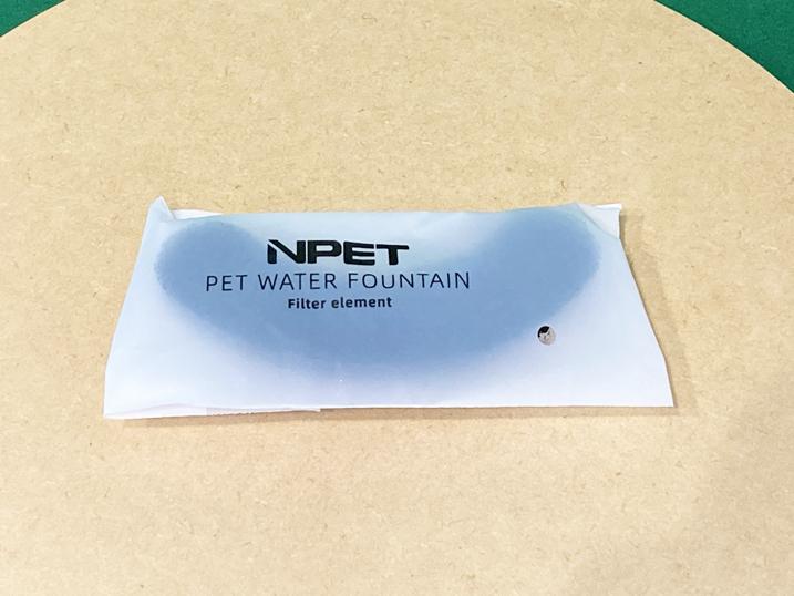 【NPET ペット自動給水器 レビュー】付属フィルター