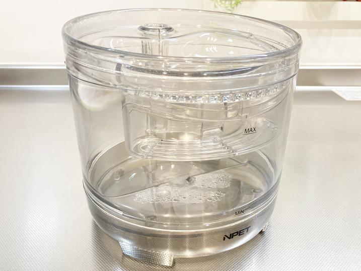 【NPET ペット自動給水器 レビュー】透明本体