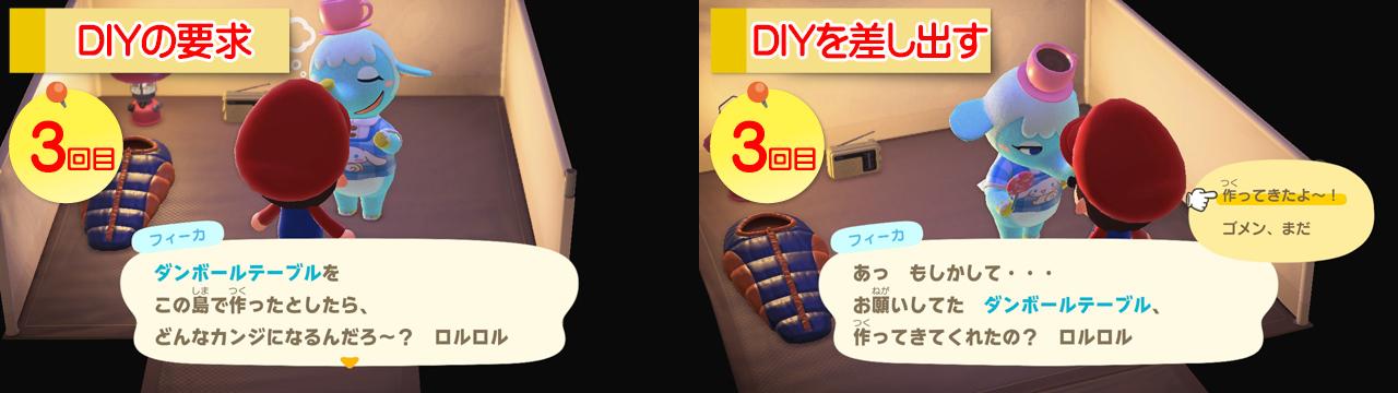 【あつ森】サンリオ amiiboカードでレア家具をGETする方法!DIYを差し出す3回目