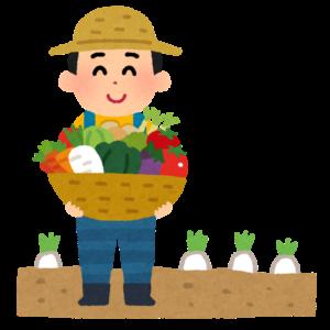 農家の収穫のイラスト