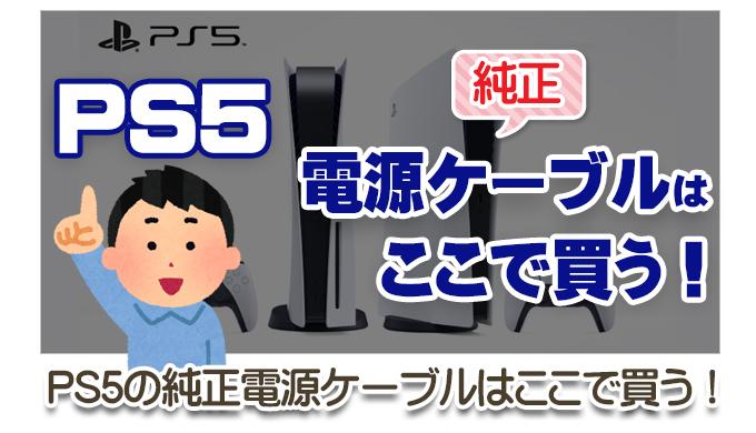 【必読!】PS5の純正電源ケーブルはここで買う!サムネイル