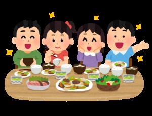 子供たちご飯を食べる
