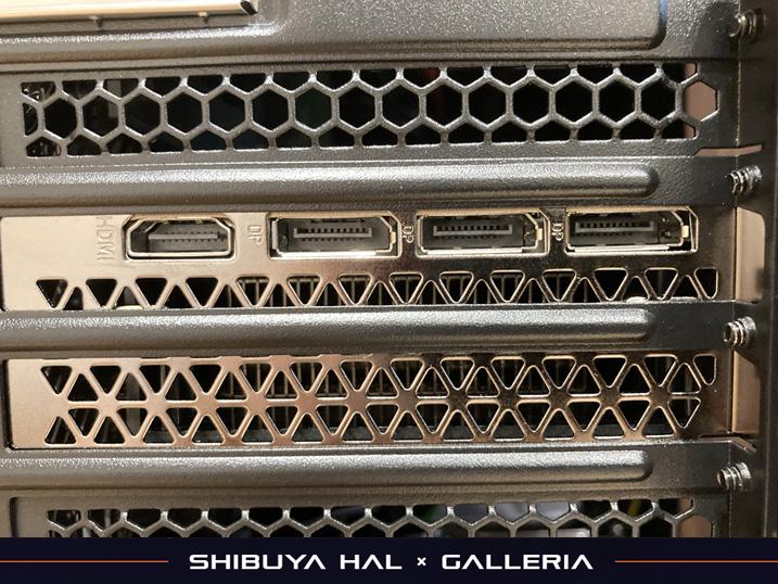 【ドスパラ】ガレリア×渋谷ハル コラボゲーミングPCを購入してみた!レビュー グラフィックボード出力端子