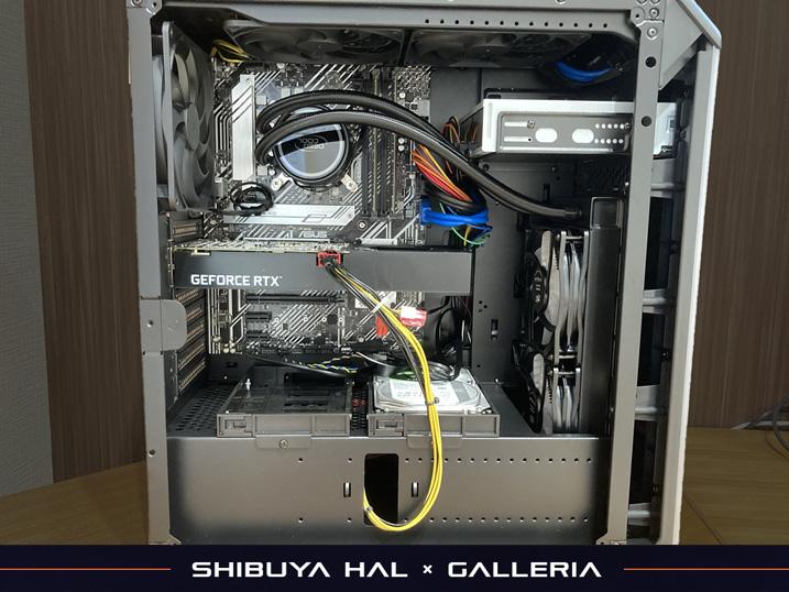 【ドスパラ】ガレリア×渋谷ハル コラボゲーミングPCを購入してみた!レビュー 本体の中身