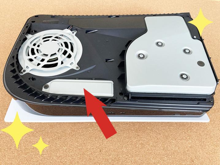 【PS5】簡単に増設できる超オススメなM.2 SSDを装着してみたよ! 増設用SSDスロットはここ!