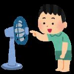 扇風機に指を入れる子供